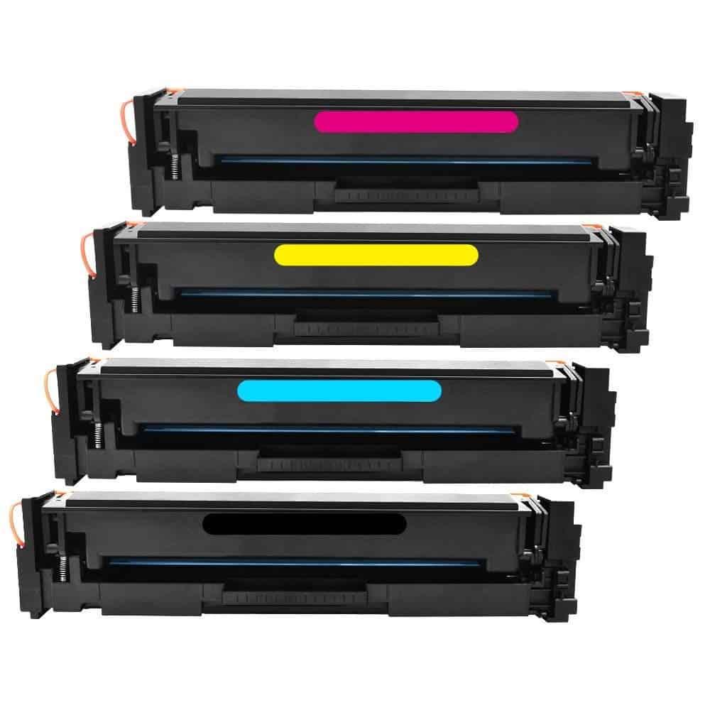 COMPATIBLE 4 TONER PACK//SET HP203A M254//M280//M281 CF540A//CF541A//CF542A//CF543A